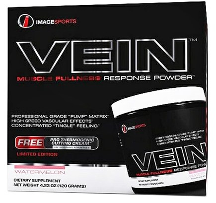 DROPPED: Image Sports - Vein Muscle Fullness Response Powder With Free Pro Thermogenic Cutting Cream Watermelon - 4.25 oz. CLEARANCE PRICED