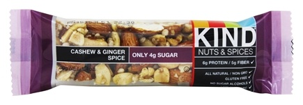 Kind Bar - Nuts & Spices Bar Cashew & Ginger Spice - 1.4 oz.