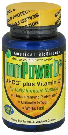 DROPPED: American BioSciences - ImmPowerD3 - 30 Vegetarian Capsules CLEARANCE PRICED