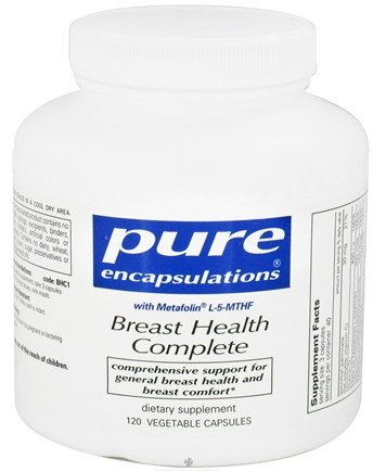 DROPPED: Pure Encapsulations - Breast Health Complete with Metafolin L-5-MTHF - 120 Vegetarian Capsules CLEARANCE PRICED