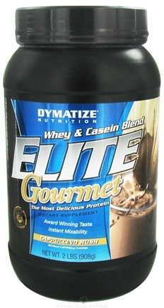 DROPPED: Dymatize Nutrition - Elite Gourmet Protein Whey & Casein Blend Powder Cappuccino - 2 lbs.