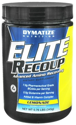 DROPPED: Dymatize Nutrition - Elite Recoup Advanced Amino Recovery - 30 Servings Lemonade - 0.76 lbs. CLEARANCE PRICED