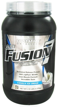 DROPPED: Dymatize Nutrition - Elite Fusion 7 Scientifically Engineered 7-Protein Blend Vanilla Ice - 2.91 lbs. CLEARANCE PRICED