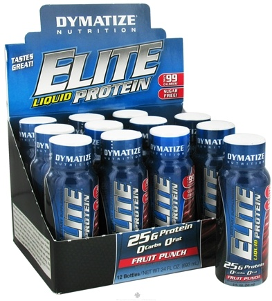 DROPPED: Dymatize Nutrition - Elite Liquid Protein Shot Fruit Punch - 2 oz.