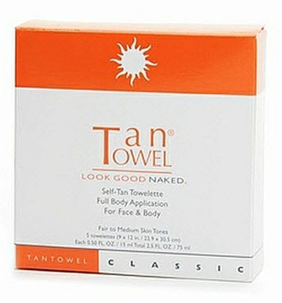DROPPED: TanTowel - Full Body Application Classic Self-Tan for Fair to Medium Skin Tones - 5 Towelette(s)