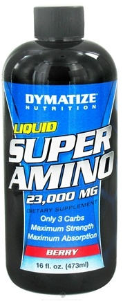 DROPPED: Dymatize Nutrition - Liquid Super Amino Berry 23000 mg. - 16 oz. CLEARANCE PRICED