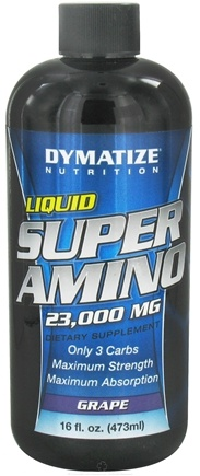 DROPPED: Dymatize Nutrition - Liquid Super Amino Grape 23000 mg. - 16 oz.
