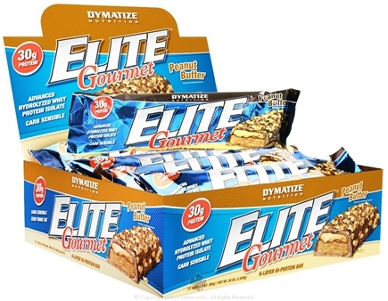 DROPPED: Dymatize Nutrition - Elite Gourmet 6 Layer High Protein Bar Peanut Butter - 3 oz. CLEARANCE PRICED