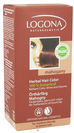 DROPPED: Logona - Herbal Hair Color 100% Botanical Mahogany - 3.5 oz.