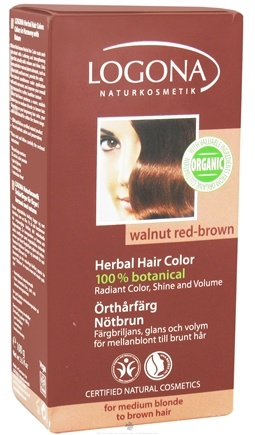 DROPPED: Logona - Herbal Hair Color 100% Botanical Walnut Red-Brown - 3.5 oz. CLEARANCE PRICED