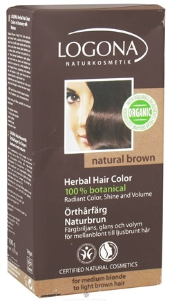 DROPPED: Logona - Herbal Hair Color 100% Botanical Natural Brown - 3.5 oz.