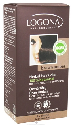 DROPPED: Logona - Herbal Hair Color 100% Botanical Brown Umber - 3.5 oz. CLEARANCE PRICED
