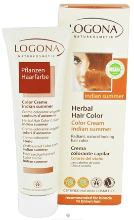 DROPPED: Logona - Herbal Hair Color Cream Indian Summer - 5.1 oz. CLEARANCE PRICED