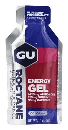 GU Energy - Roctane Ultra Endurance Energy Gel 2x Caffeine Bluberry Pomegranate - 1.1 oz.