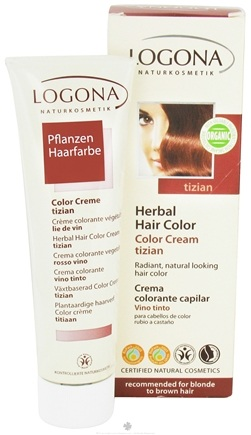DROPPED: Logona - Herbal Hair Color Cream Tizian - 5.1 oz.