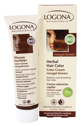 Logona - Herbal Hair Color Cream Nougat Brown - 5.1 oz.