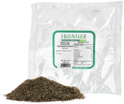 DROPPED: Frontier Natural Products - Sea Salt Medium Grind Yakima Applewood Smoked - 1 lb.