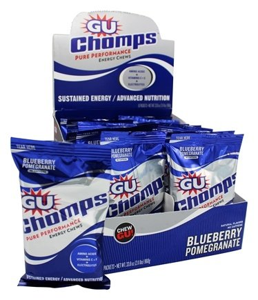 DROPPED: GU Energy - Chomps Pure Performance Energy Chews No Caffeine Blueberry Pomegranate - 2.1 oz.
