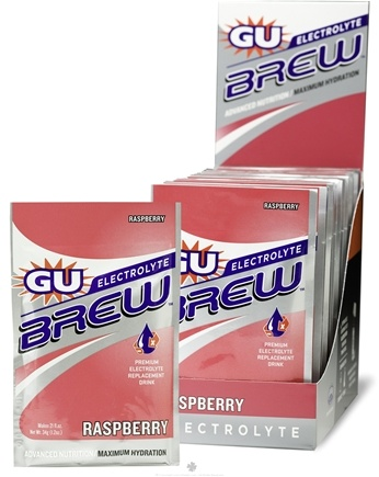 DROPPED: GU Energy - GU Electrolyte Brew Raspberry - 1.2 oz. CLEARANCE PRICED