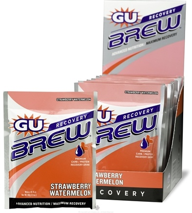 DROPPED: GU Energy - GU Recovery Brew Strawberry Watermelon - 2.1 oz. CLEARANCE PRICED