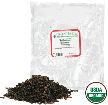 DROPPED: Frontier Natural Products - Cloves Whole Hand Select Organic Fair Trade Certified - 1 lb. CLEARANCE PRICED
