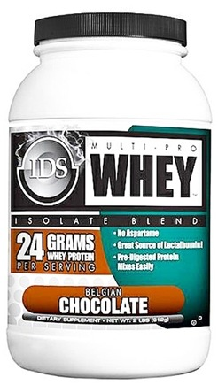 DROPPED: IDS Sports - Multi-Pro Whey Isolate Blend Belgian Chocolate - 2 lbs. CLEARANCE PRICED