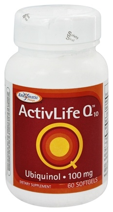 Enzymatic Therapy - ActivLife Q10 Ubiquinol 100 mg. - 60 Softgels