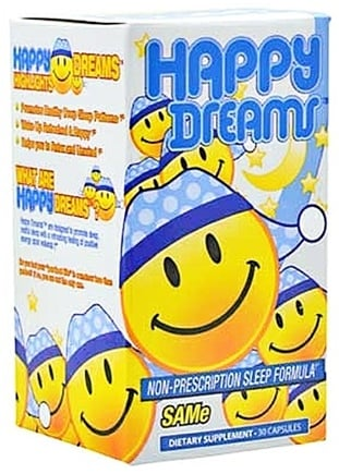 DROPPED: Brain Pharma - Happy Dreams Non-Prescription Sleep Formula - 30 Capsules