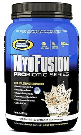 DROPPED: Gaspari Nutrition - MyoFusion Probiotic Series Protein Cookies And Cream - 2 lbs. CLEARANCE PRICED