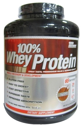 DROPPED: Top Secret Nutrition - 100% Whey Protein Chocolate Ice Cream - 5 lbs. CLEARANCE PRICED