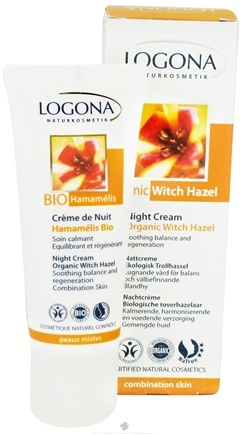 DROPPED: Logona - Night Cream Organic Witch Hazel - 1.35 oz. CLEARANCE PRICED