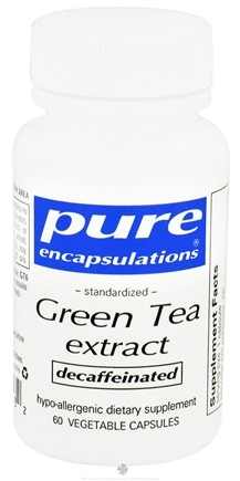 DROPPED: Pure Encapsulations - Standardized Green Tea Extract Decaffeinated - 60 Vegetarian Capsules CLEARANCE PRICED