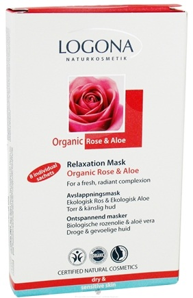 DROPPED: Logona - Relaxation Mask Organic Rose & Aloe - 8 x .51 oz. Individual Sachets
