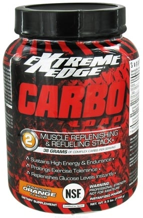 DROPPED: Extreme Edge - Carbo Load Muscle Replenishing and Refueling Stack Tenacious Orange - 2.5 lbs. DAILY DEAL