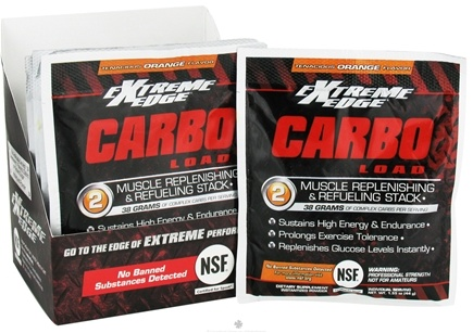 DROPPED: Extreme Edge - Carbo Load Muscle Replenishing and Refueling Stack Tenacious Orange - 7 Packet(s) CLEARANCE PRICED