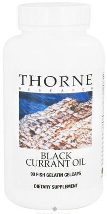 DROPPED: Thorne Research - Black Currant Oil - 90 Fish Gelatin Gelcaps