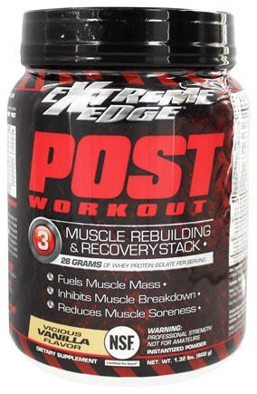 DROPPED: Extreme Edge - Post Workout Muscle Rebuilding and Recovery Stack Vicious Vanilla - 1.32 lbs.