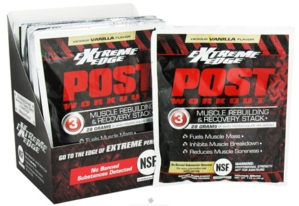 DROPPED: Extreme Edge - Post Workout Muscle Rebuilding and Recovery Stack Vicious Vanilla - 7 Packet(s) CLEARANCE PRICED