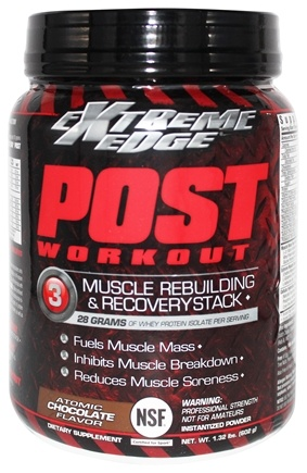 Extreme Edge - Post Workout Muscle Rebuilding and Recovery Stack Atomic Chocolate - 1.32 lbs.
