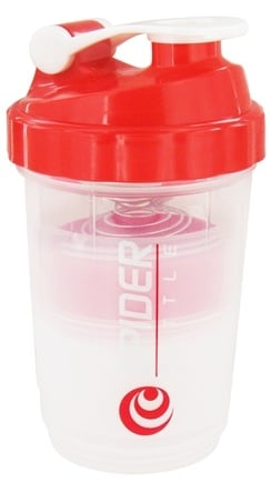 Spider Bottle - SpiderMix Maxi2Go Shaker Bottle Clear Red - 30 oz.