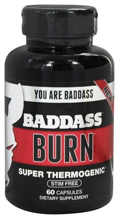 DROPPED: Baddass Nutrition - Burn Super Thermogenic - 60 Capsules CLEARANCE PRICED