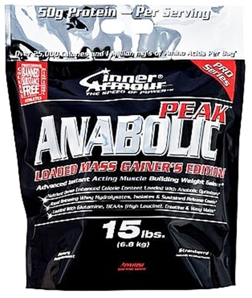 DROPPED: Inner Armour - Anabolic Peak Loaded Mass Gainer's Edition Strawberry - 15 lbs. CLEARANCE PRICED