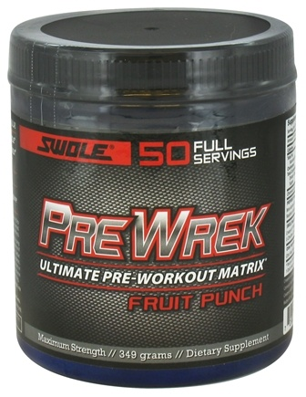 DROPPED: Swole Sports Nutrition - PreWrek Ultimate Pre-Workout Matrix Fruit Punch - 349 Grams CLEARANCE PRICED