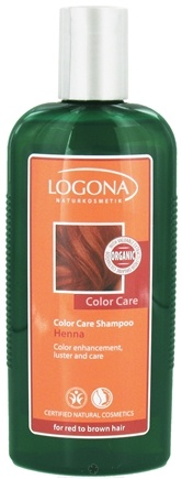 DROPPED: Logona - Shampoo Color Care Henna for Red to Brown Hair - 8.5 oz.