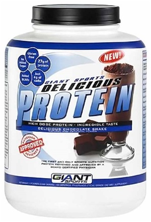 DROPPED: Giant Sports Products - Delicious Protein Powder Chocolate Shake - 5 lbs. CLEARANCE PRICED