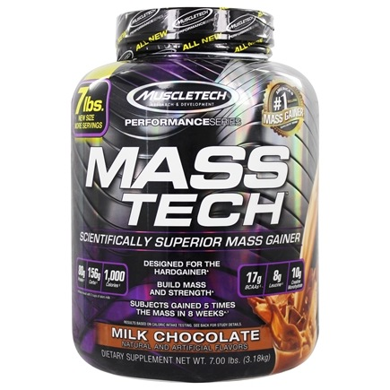 Muscletech Products - Mass Tech Performance Series Advanced Muscle Mass Gainer Milk Chocolate - 7 lbs.