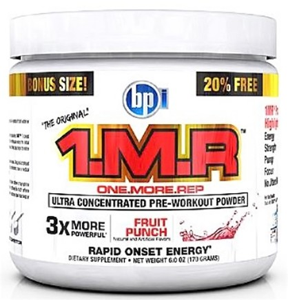 DROPPED: BPI Sports - 1 M.R Ultra Concentrated Pre-Workout Powder - 28 Servings Fruit Punch - 170 Grams