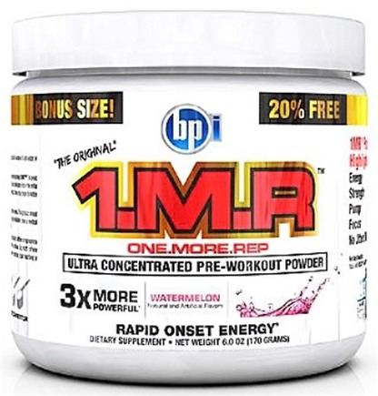 DROPPED: BPI Sports - 1 M.R Ultra Concentrated Pre-Workout Powder - 28 Servings Watermelon - 170 Grams