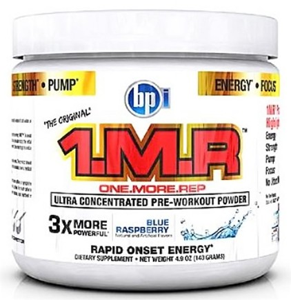 DROPPED: BPI Sports - 1 M.R Ultra Concentrated Pre-Workout Powder - 28 Servings Blue Raspberry - 140 Grams