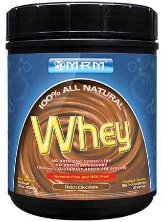 DROPPED: MRM - 100% All Natural Whey Dutch Chocolate - 1 lbs. CLEARANCE PRICED